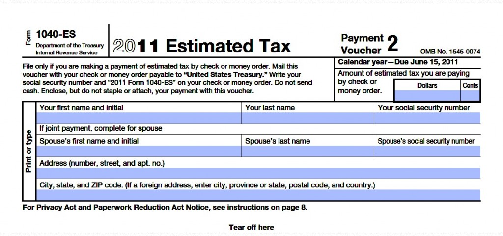 Estimated tax payment dates
