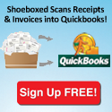 We scan receipts into Quickbooks